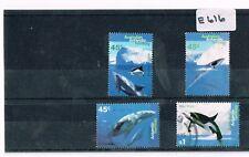 Australian Antarctic Territory 1995 Whales 4 Values Sheet Fine Used  E 616