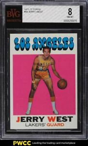 1971 Topps Basketball Jerry West #50 BVG 8 NM-MT