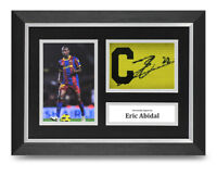 Eric Abidal Signed A4 Framed Captains Armband Photo Display Barcelona Autograph