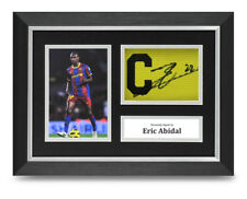 Eric Abidal Signed A4 Framed Captains Armband Photo Display Barcelona Autograph