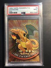 1999 Topps Pokemon T.V. Charizard #6 Foil Black Logo PSA 9