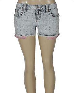 Miss Me Daisy Womens Denim Shorts Light Blue Style JP8577H