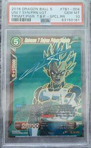 2018 Tournament of Power Universe 7 Saiyan Prince Vegeta Signature (SPR) PSA 10