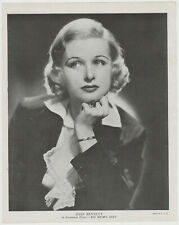 Joan Bennett 1936 R95 8x10 Linen Textured Printed Photo - Vintage Premium