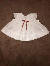 c4e04217f New ListingSaks Fifth Avenue Girls 0-3 Months Sleeve Less Vintage White Dress  Floral Bow