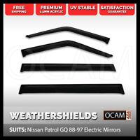 OCAM Weathershields For Nissan Patrol GQ 88-97 Electric Mirrors Maverick Visors
