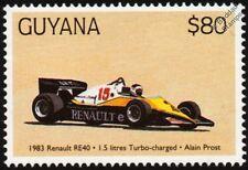 1983 RENAULT RE40 (Alain Prost) F1 GP Racing Car Stamp