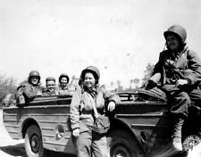 WWII B&W Photo US Army Nurses Ford GPA Jeep WW2 World War Two / 1040