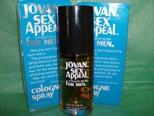 SEX APPEAL by JOVAN COLOGNE SPRAYS FOR MEN  3 fl oz EACH X 2, vintage NIB