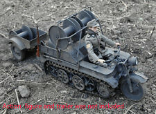 Toy Model German Full Metal Sd.kfz.2 Kettenkrad w/ Cable Reeler Panzer Gray 1/6