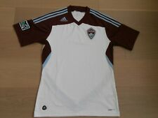 COLORADO RAPIDS MLS ADIDAS CLIMACOOL WHITE SHORT-SLEEVE SOCCER JERSEY MEN M