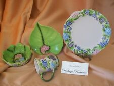 Temptations Figural Floral Dinnerware Service For 8 Hydrangea 32 Pieces NEW SETS