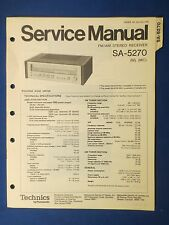 TECHNICS SA-5270 RECEIVER SERVICE MANUAL ORIGINAL FACTORY ISSUE THE REAL THING