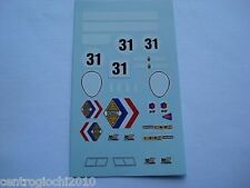 DECALS KIT 1/43 ALPINE RENAULT A220 LE MANS 1969 N.31