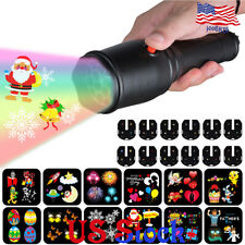 LED Christmas Easter Holiday Halloween Handheld Projector Light Flashlight Decor