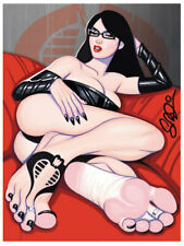 BARONESS Barefoot GI JOE Pin-Up 9x12 Print Scott Blair