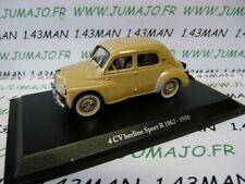 4CV7 Voiture 1/43 ELIGOR hachettes renault 4CV berline sport R 1062 1958