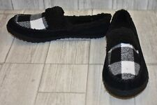 **Sorel Out N About Plaid Slide Slippers, Women's Size 9, Black/White