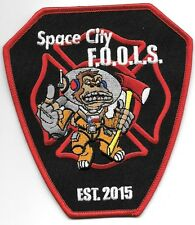 "Houston - Space City F.O.O.L.S., Texas   est.-2015 (4.5"" x 5"" size) fire patch"