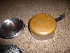 Revere Ware 1.5 Qt Stainless Steel Copper Old Mark  Pan Strainer Steamer Lid