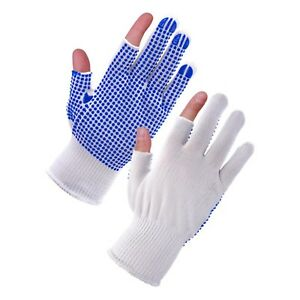 12 Pairs Polka Dot PVC Grip Gloves, Electronics, Assembly, Precision Work SALE