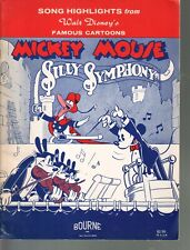Mickey Mouse Silly Symphony 19 songs from Disney Cartoons Sheet Music