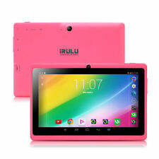 "New iRULU 7"" Tablet PC Android 6.0 Quad Core Dual Cam 16GB WIFI Google GMS Pink"