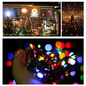 12M 100 LED Solar String Fairy Light Garden Christmas Outdoor Party Decoration