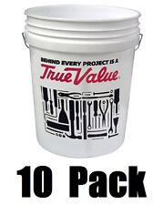 (10) ea Leaktite 5Glskd-Tv White Plastic 5 Gallon True Value Buckets