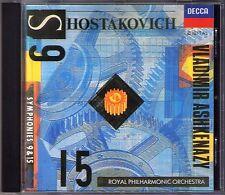 Vladimir ASHKENAZY: SHOSTAKOVICH Symphony No.9 & 15 Schostakowitsch Sinfonie CD