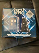 Doctor Who TARDIS Salt Dalek Pepper Shaker Set Ceramic Gift New In Box