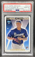 2018 Topps Archives Ronald Acuna Jr. '93 Coming Attraction ROOKIE PSA 10 GEM MT