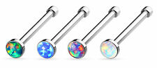 4pcs Synthetic Opal Gem Nose Studs Bones Rings Wholesale Body Jewelry