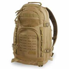 Marines USMC Desert Tan Brown Marines Military Backpack Pack Molle USA Flag