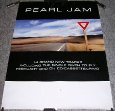 """PEARL JAM SUPERB U.K. RECORD COMPANY PROMO POSTER FOR THE ALBUM """"YIELD"""" IN 1997"""