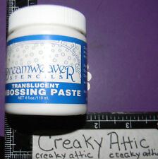 METALLIC SILVER EMBOSSING PASTE 4 OUNCE HTF EMBOSS STENCIL ACID FREE DREAMWEAVER