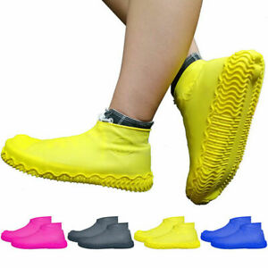 2x Silicone Waterproof Shoe Cover Outdoor Rainproof Skid-proof Boots Shoe Covers