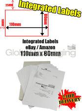 2000 x EBAY / AMAZON A4 INTEGRATED LABELS 110x80mm (S11 / G11) ADDRESS PEEL OFF