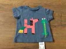 BABY BOYS AGE 9-12 MONTHS LONG SLEEVED T-SHIRT TOP NEW M/&S HORSE DESIGN COTTON