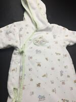 """Stacy Claire Boyd """"Two By Two"""" Noah's Ark Animals Bunting Bag Pram Lined 0-6 Mo."""