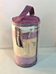 Yoga Towel Premium Oversized by Khataland Equanimity Antibacterial Purple