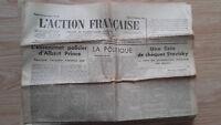 Diario Nacionalista ACCIÓN Francesa 27 Febrero 1934 N º 58 ABE