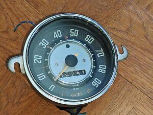 1963 VW SPEEDOMETER 111957023E VDO SPEEDOMETER GERMANY BEETLE KARMANN GHIA