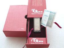 2012 China Año Lunar Del Dragon De 50 Gramos De Plata Bar Lingote Caja Coa