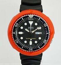 ORANGE TUNA SHROUD for 7s26, SKX007 SKX009 011 A55 fits LARGE Seiko Divers Watch