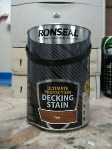 Ronseal Ultimate Protection Teak Decking Stain - 5L