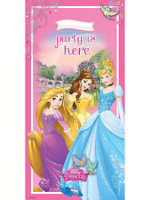 Disney Princess Storybook The Party Is Here Birthday Pink Door Banner Decoration