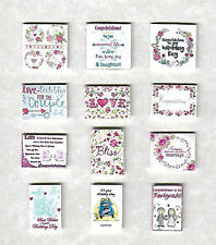 12 HAND-MADE DOLLS' HOUSE 1/12TH SCALE WEDDING CARDS