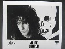 "Alice Cooper Epic Records Media Promo Photo 8"" x 10"" Excellent Condition"