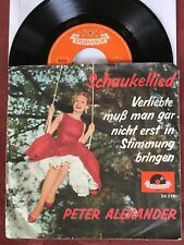 """PETER ALEXANDER 45 rpm 7"""" EP RECORD SCHAUKELLIED (ROCKING SONG) CHEESE CAKE P/S"""